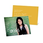 Sophisticated Swirls -- Horizontal Photo Graduation Invitation
