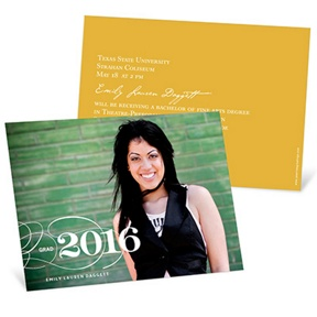 Sophisticated Swirls Horizontal -- Graduation Announcements