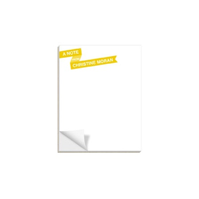 Fun Ribbon Banner Custom Notepads
