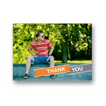 Fun Ribbon Banner -- Graduation Thank You Card