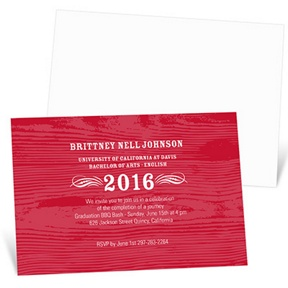 Wood Grain Chic -- Graduation Announcements