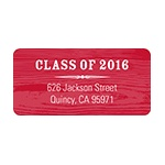 Wood Grain Chic -- Graduation Address Label