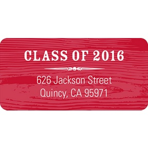 Wood Grain Chic -- Graduation Address Labels