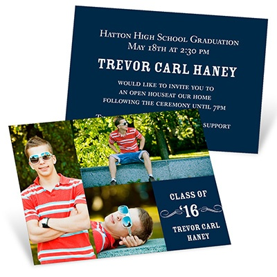 Party On Mini Graduation Announcements
