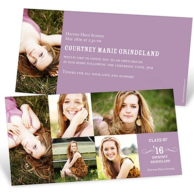Looking to the Future -- Horizontal Graduation Party Invitation