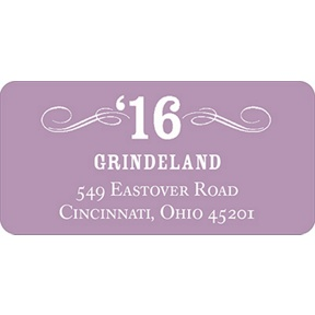 Looking to Her Future -- Graduation Address Labels