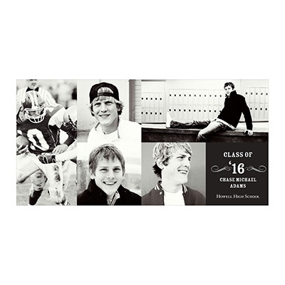 Photo Paper Creative Collage For Him Graduation Announcements