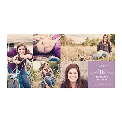 Photo Paper Creative Collage For Her Graduation Announcements