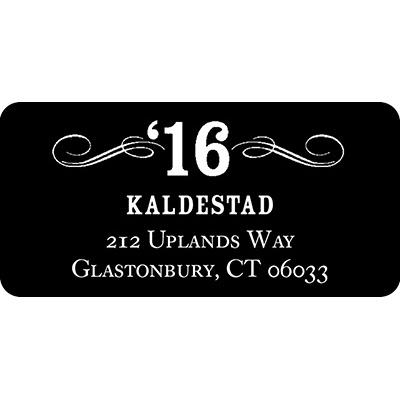 Looking to His Future Graduation Address Labels
