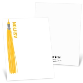 Hanging Tassel -- Graduation Thank You Cards