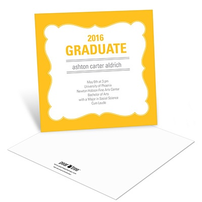 Charming Frame Graduation Announcements