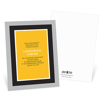 Classic Framework Graduation Announcements