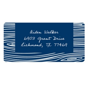 Hand Drawn Wood Grain -- Graduation Address Labels
