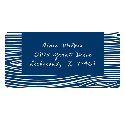 Hand Drawn Wood Grain -- Graduation Address Label