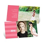 Stunning Stripes -- Horizontal Graduation Announcements
