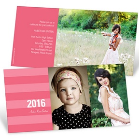 Stunning Stripes Horizontal -- Graduation Announcements