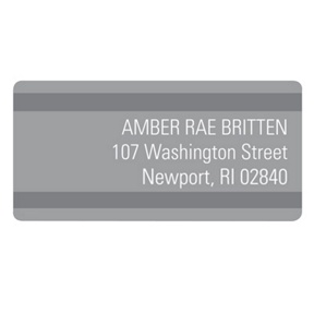 Stunning Stripes -- Graduation Address Labels