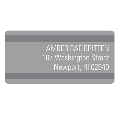 Stunning Stripes Graduation Address Labels