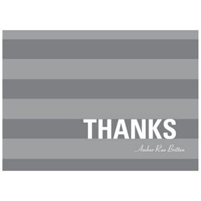Stunning Stripes -- Graduation Thank You Cards