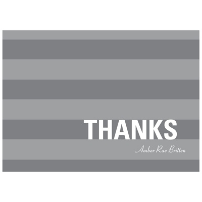 Stunning Stripes -- Graduation Thank You Card