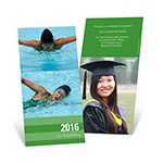 Stunning Stripes -- Vertical Graduation Announcements