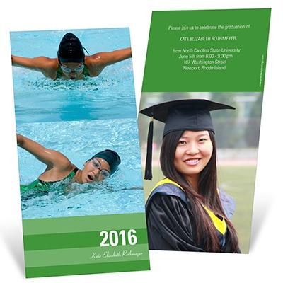 Stunning Stripes Vertical Graduation Announcements