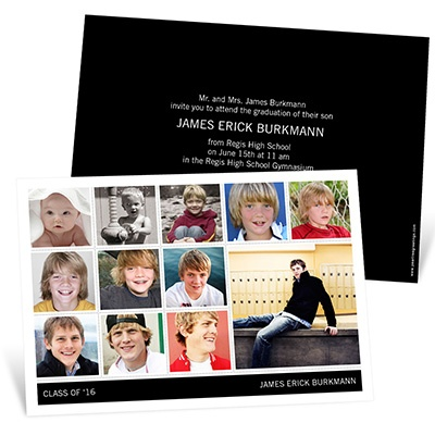 Year by Year Collage -- Photo Graduation Invitations