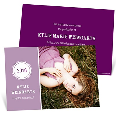 Chic Circle Emblem -- Photo Graduation Announcement