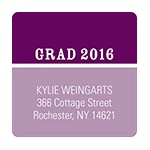 Two-Tone Chic -- Graduation Address Labels