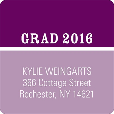 Two-Tone Chic Graduation Address Labels