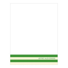 Distinct Stripes Green -- Graduation Thank You Cards