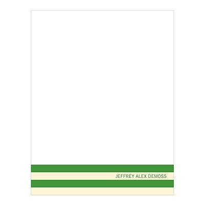 Distinct Stripes Green Graduation Thank You Cards
