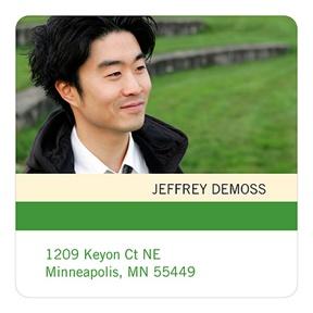 Distinct Stripes Green -- Graduation Address Labels