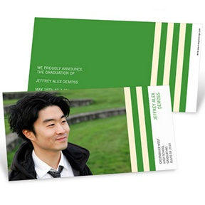 Distinct Stripes Horizontal -- Graduation Announcements