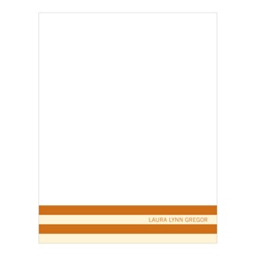 Distinct Stripes Orange -- Graduation Thank You Cards