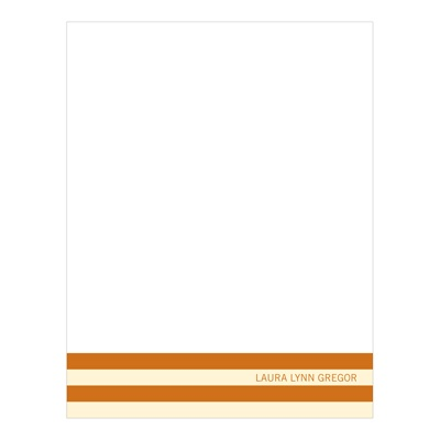 Distinct Stripes Orange Graduation Thank You Cards