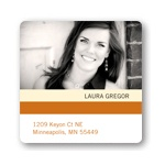 Distinct Stripes --  Graduation Address Label