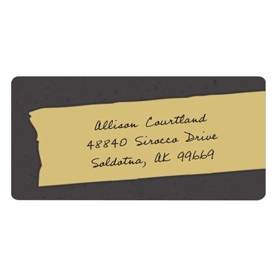 Trendy Tape Graduation Address Labels
