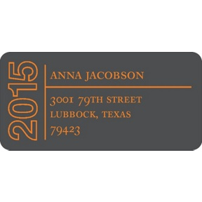 Elegant Outline -- Graduation Address Labels