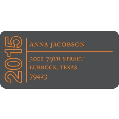 Elegant Outline Graduation Address Labels