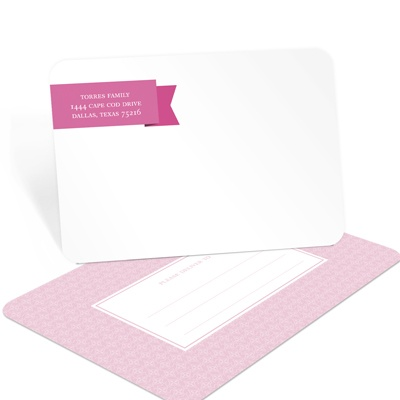 Patterned Postcards -- Baby Shower Thank You Notes