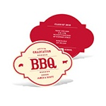 BBQ Gathering -- Graduation BBQ Invitations