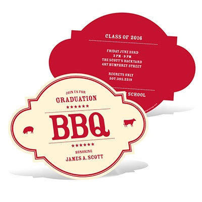 BBQ Gathering Graduation Announcements