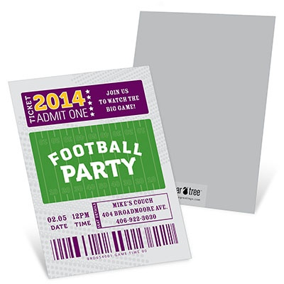 Ticket to the Game Football Party Invitation