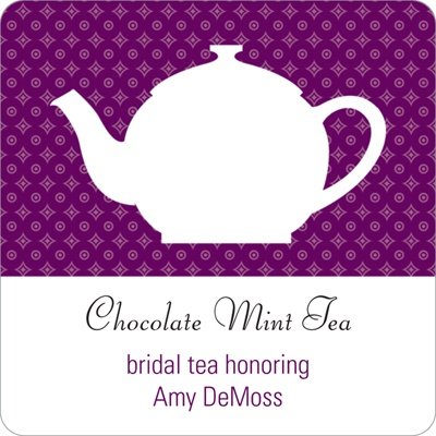Tea Time -- Wedding Favor Stickers