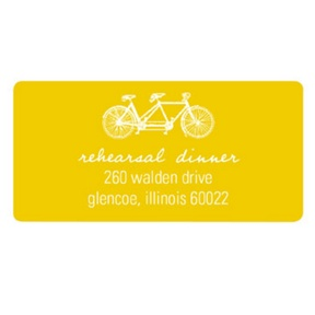 Built for Two -- Personalized Wedding Address Labels
