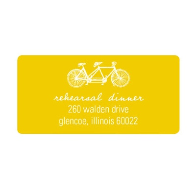 Built for Two Personalized Wedding Address Labels