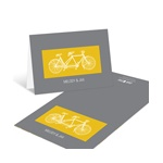 Built for Two in Yellow -- Modern Wedding Thank You Cards