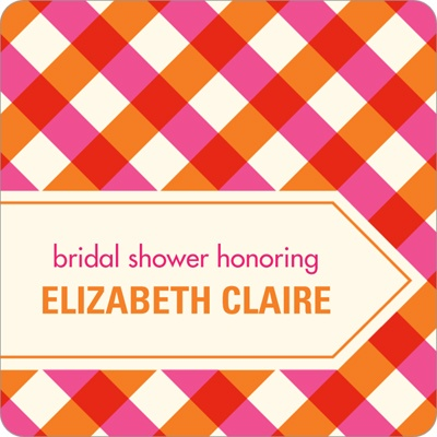 Checkered Bliss -- Wedding Favor Stickers