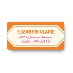 Sweet Symmetry -- Bridal Shower Address Labels